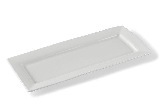 white ceramic serving tray