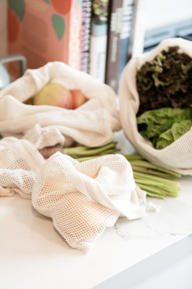 Cut down on plastic at home: mesh produce bags