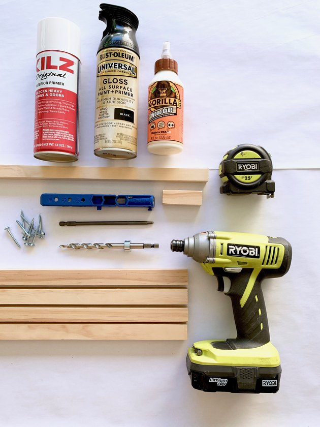 Tools for modern towel rack DIY