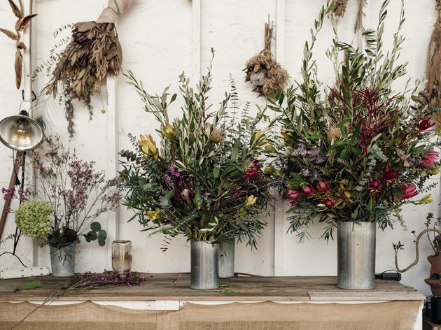 A collection of bouquets designed by Spencer Falls