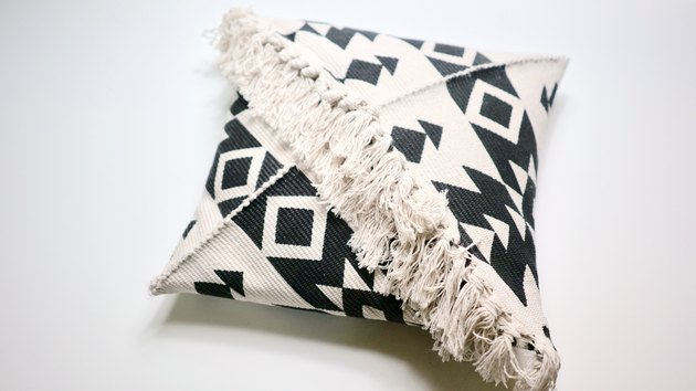 DIY Fringe Pillow Out of a Rug