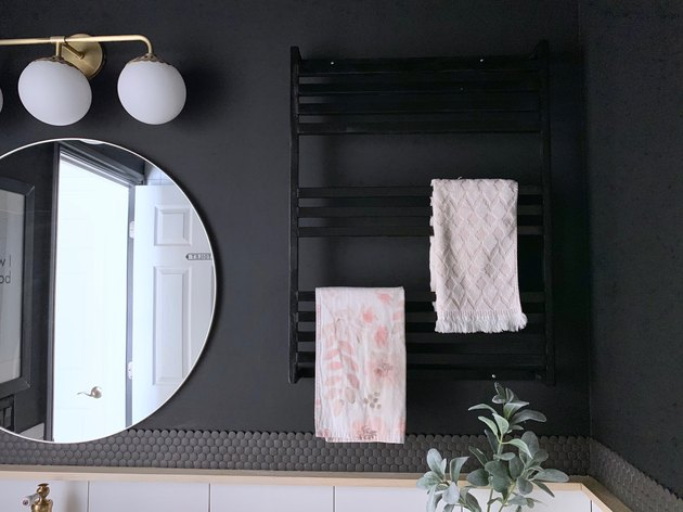 DIY Modern Bathroom Towel Rack
