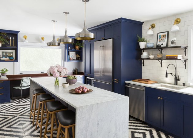 mixed metals kitchen