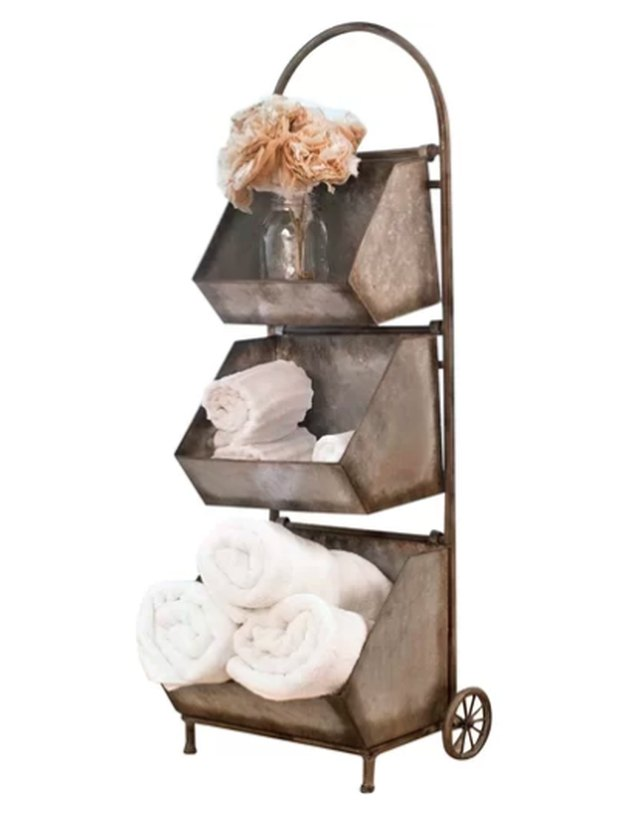 birch lane rolling bathroom shelf