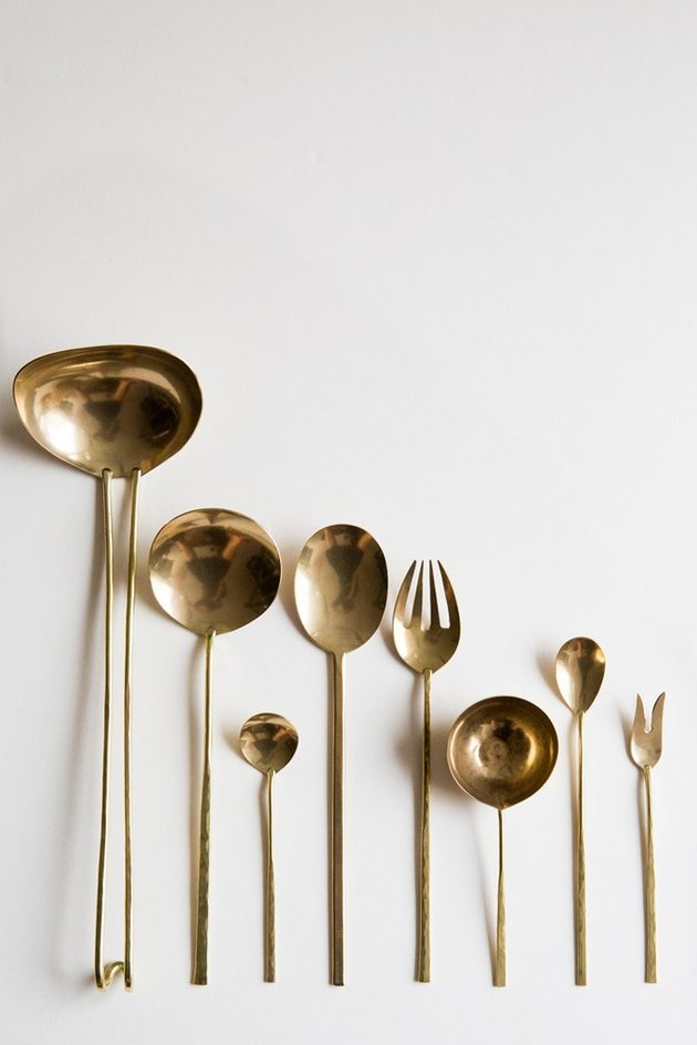 brass serving utensils