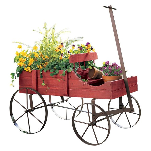 collections etc amish wagon backyard planter