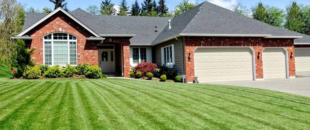 House with lawn.