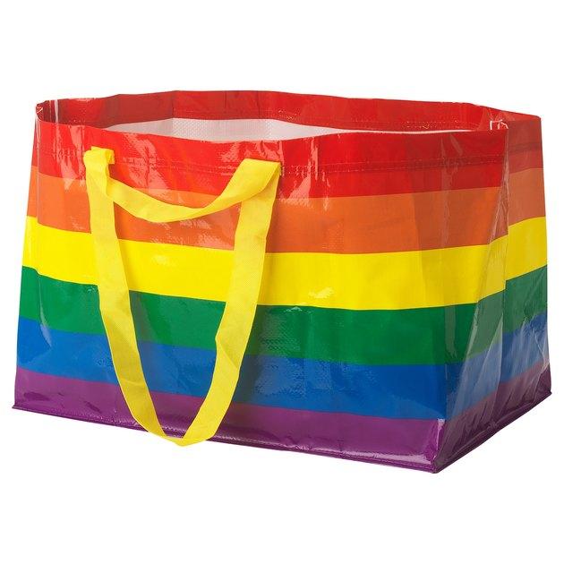 large rainbow ikea bag