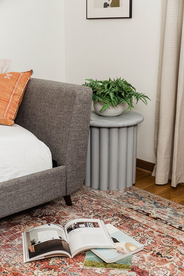 Style your new DIY side table beside a bed or sofa for a modern contemporary look.