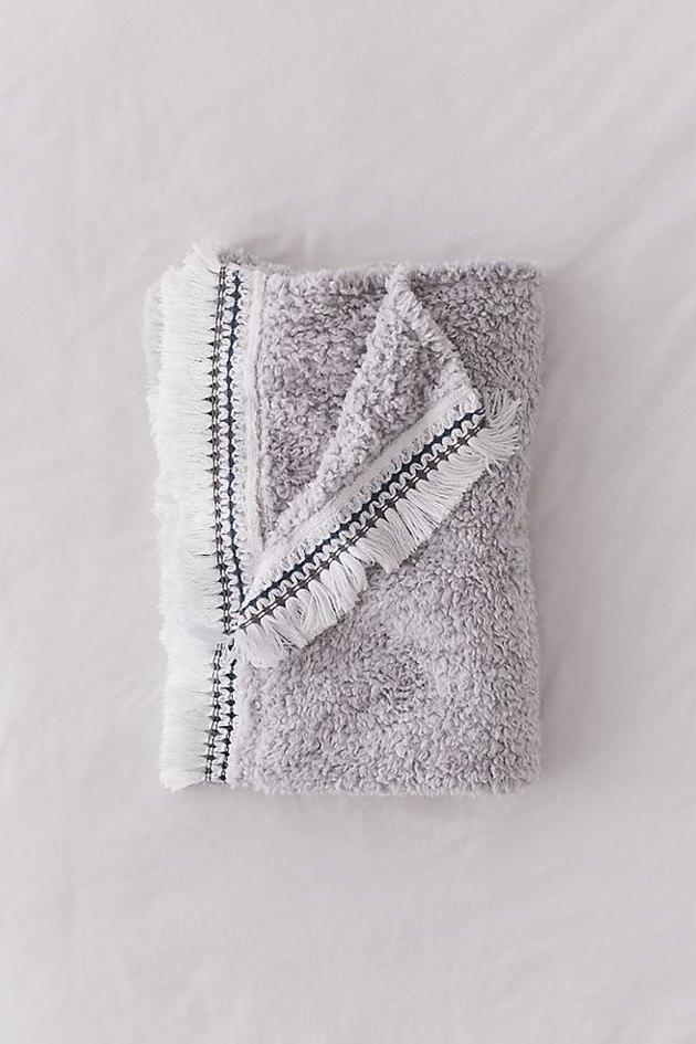 amped fleece fringe throw blanket