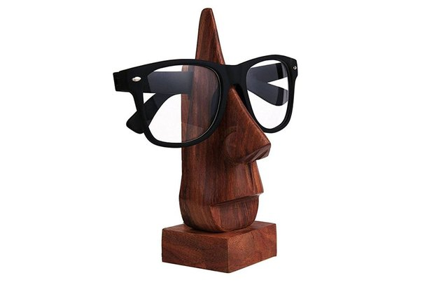 wooden eyeglass holder