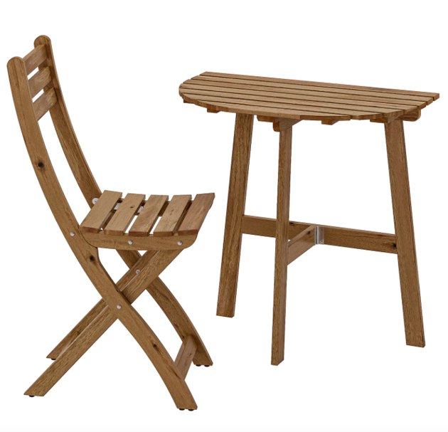 Askholmen Wall Table and Chair, $49