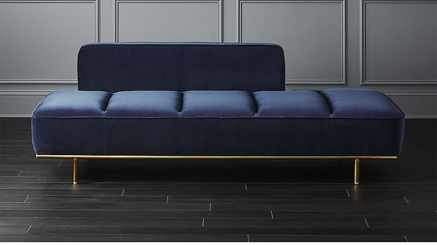 cb2 navy daybed