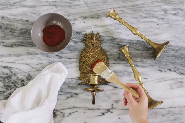 Cleaning brass with ketchup