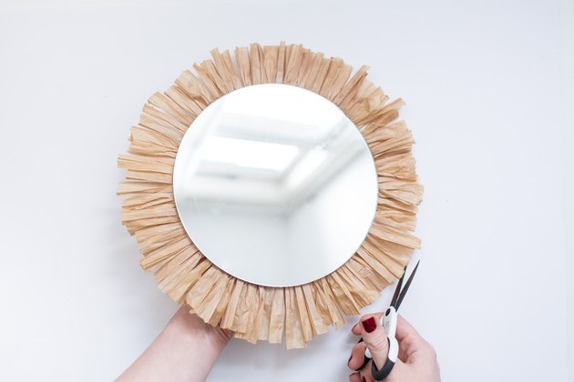 DIY Raffia Tasseled Mirrors