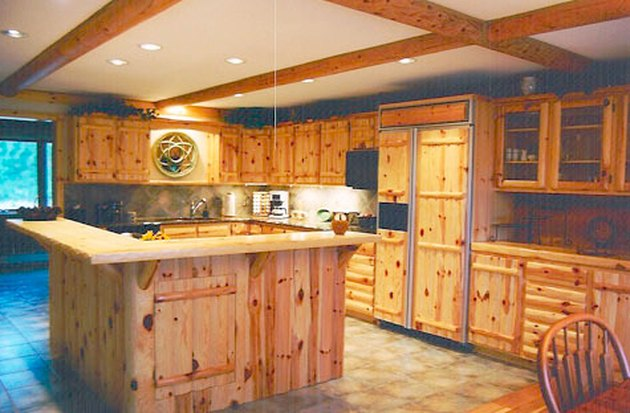 A pine kitchen.