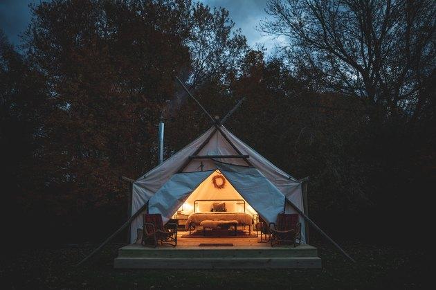 exterior of tents