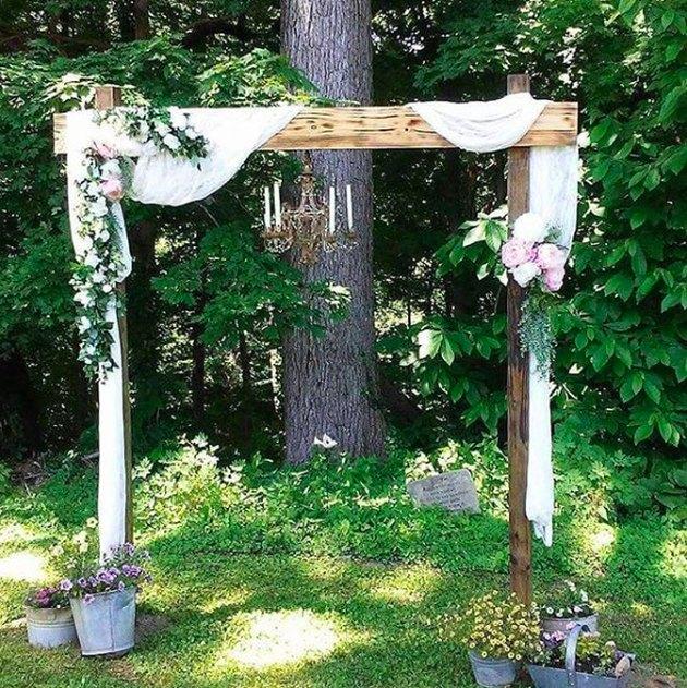 chandelier chuppah