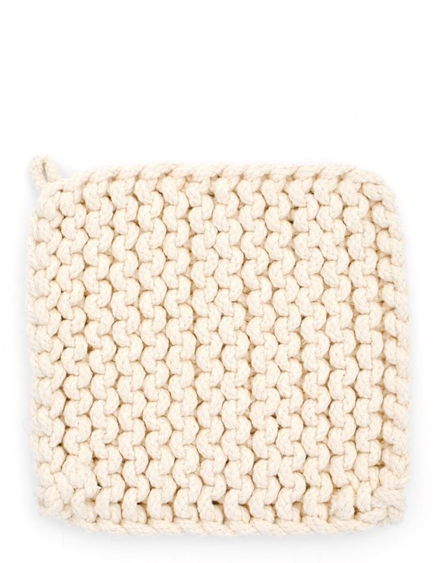 knit potholder for kitchen