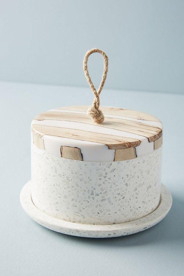 terrazzo butter dish