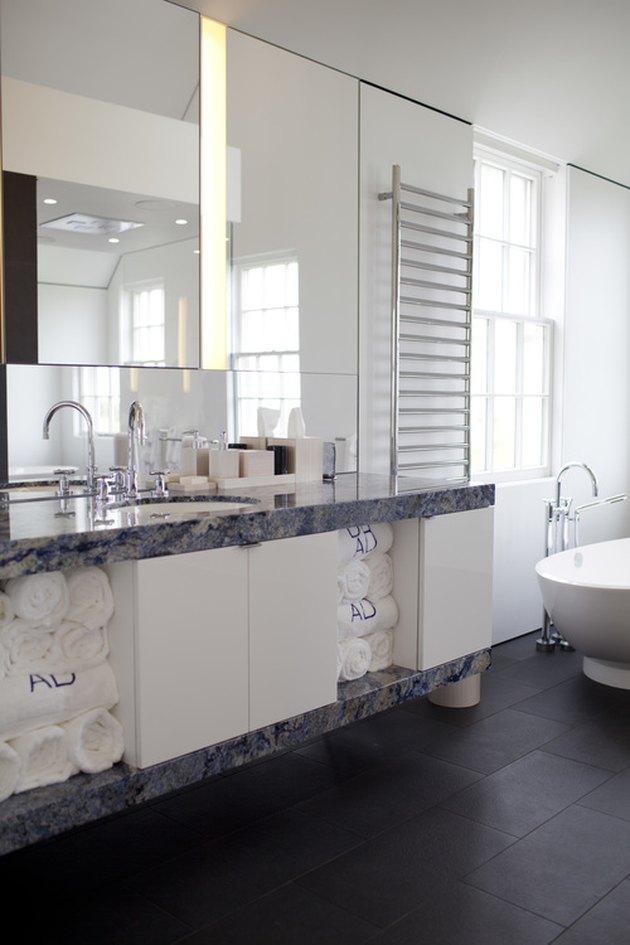 blue bahia granite countertop bathroom