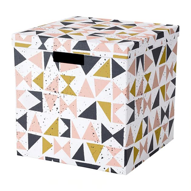 multicolored storage box