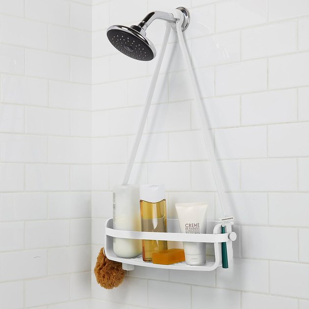 single shelf caddy in the shower