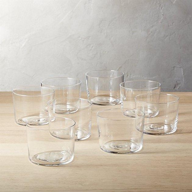 cb2 short glasses