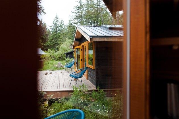 A glimpse of a restored cabin at Bodega Cove.
