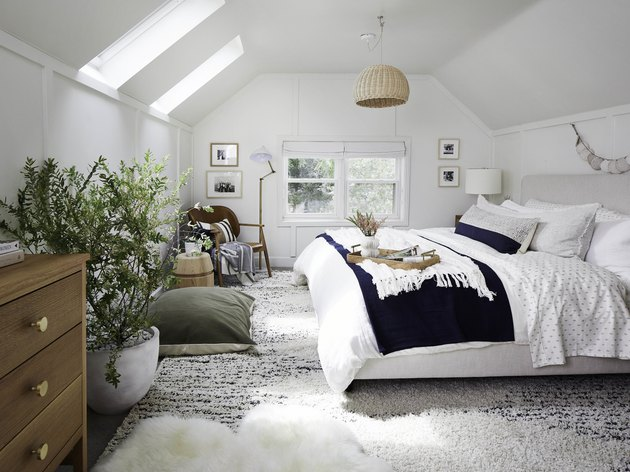 Attic Bedroom Furniture with Velux skylight blinds in attic bedroom with attic bedroom furniture
