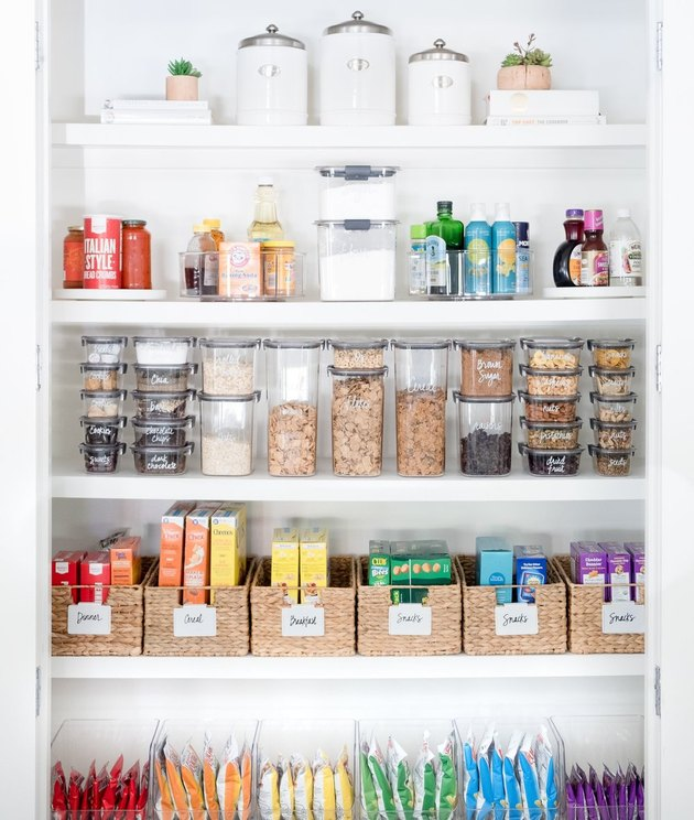 small kitchen storage idea for pantry shelving