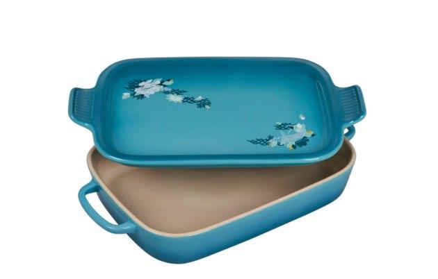 Lotus Collection Rectangular Dish With Platter Lid