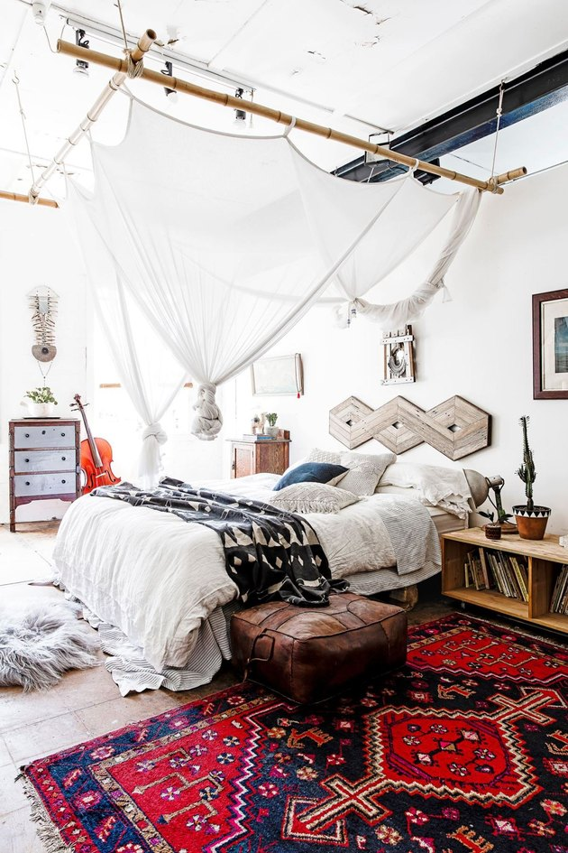 bohemian bedroom look