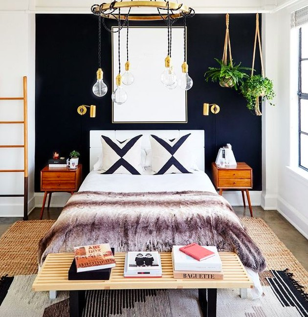 boho bedroom in downtown LA