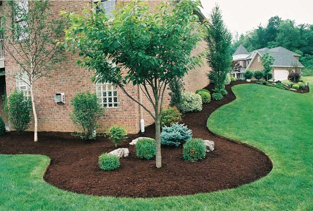 Mulch as a landscaping material.
