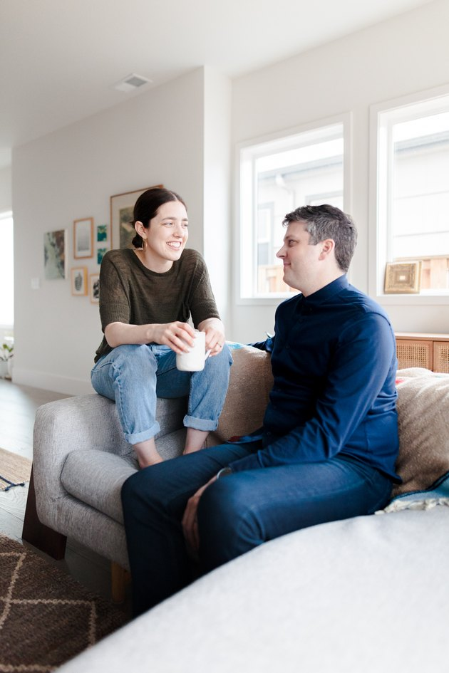 Leah Lavelle and Keith Mokris in their Portland home
