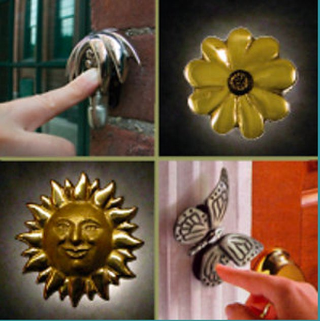 Collection of decorative doorbell buttons.