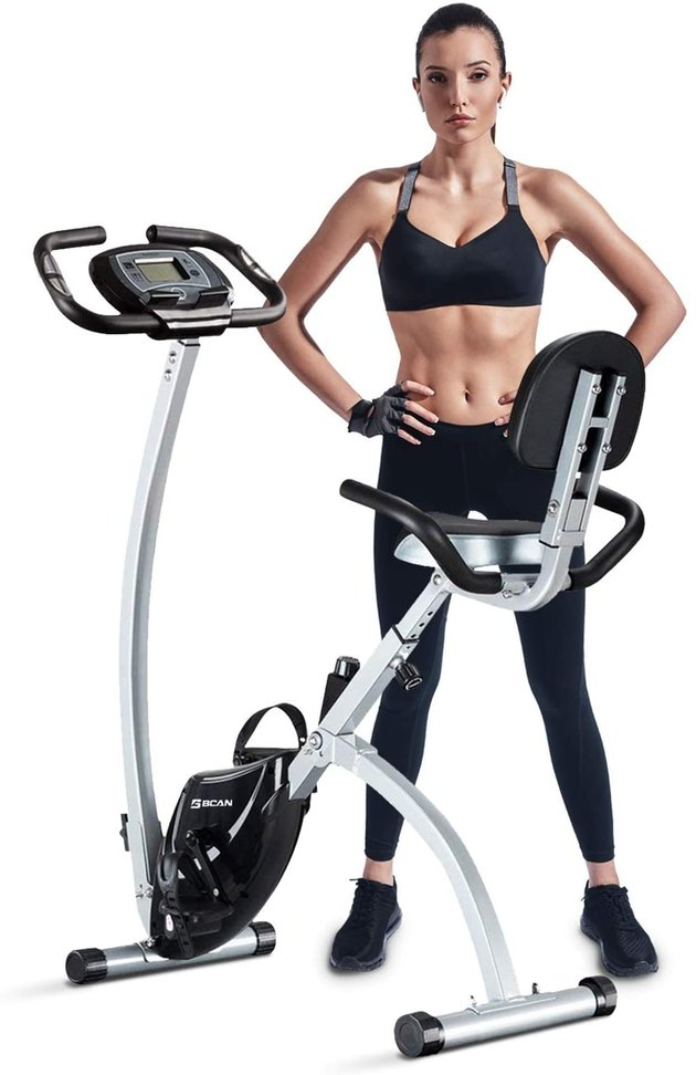 portable exercise bike with LCD monitor
