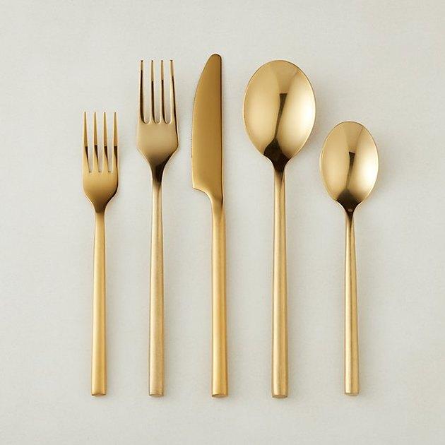 cb2 gold flatware