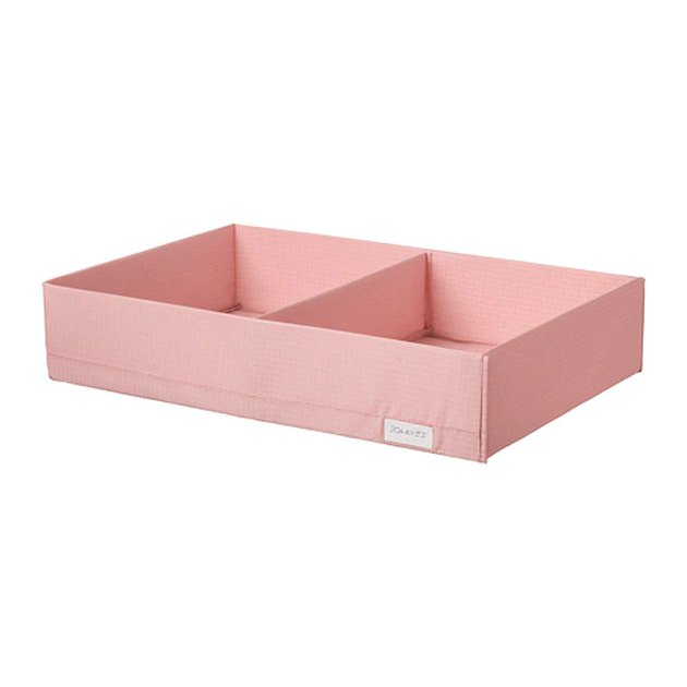 pink box with compartments