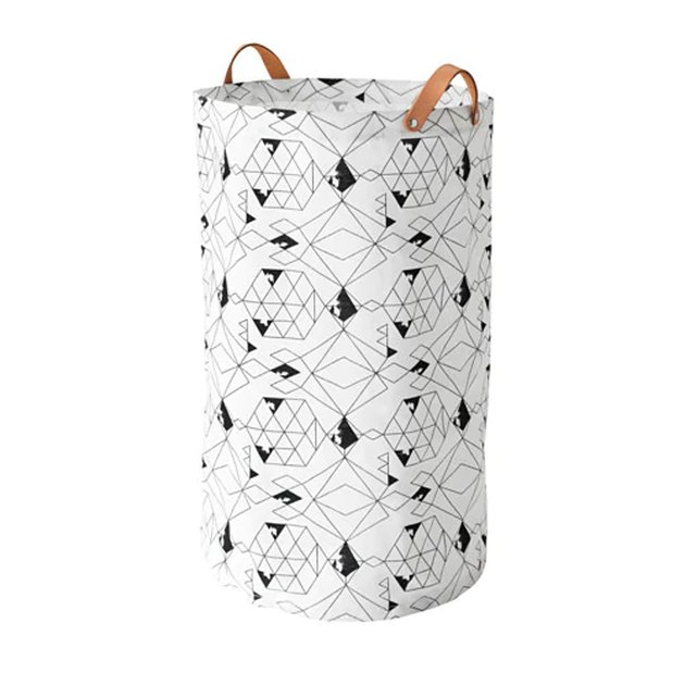 patterned laundry bag