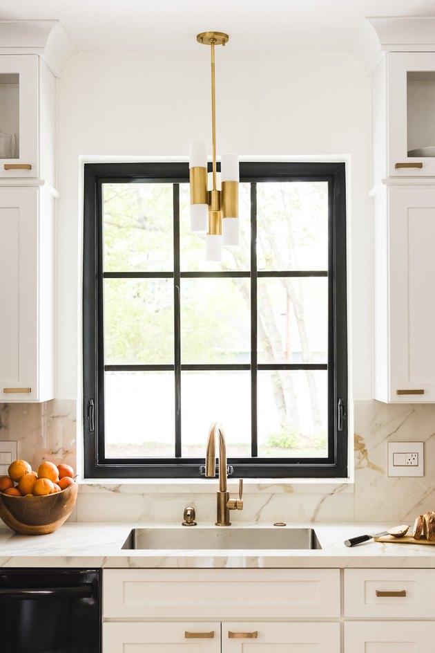 Midcentury small kitchen lighting