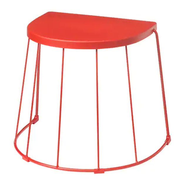 red stool/side table