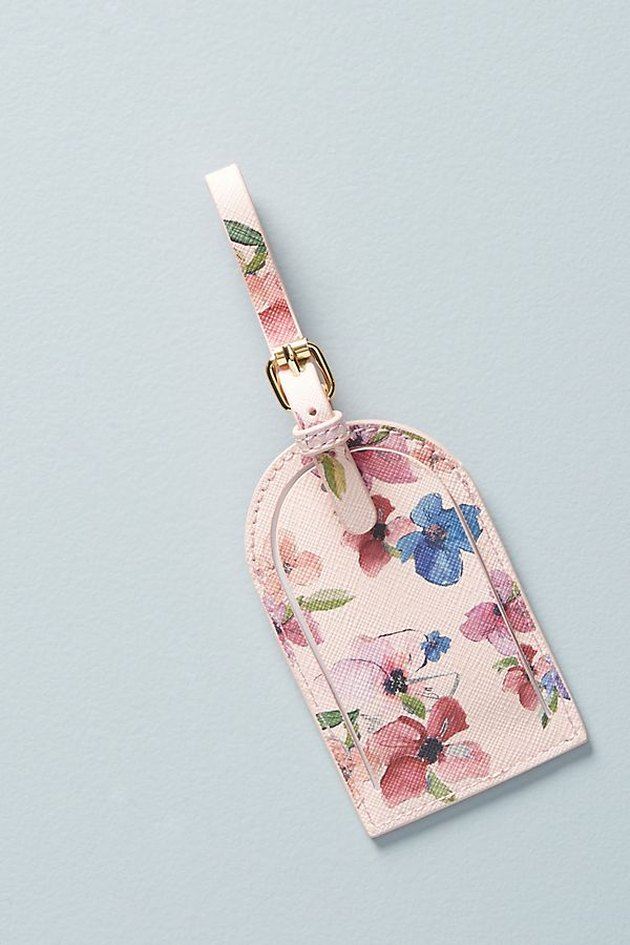 anthro luggage tag