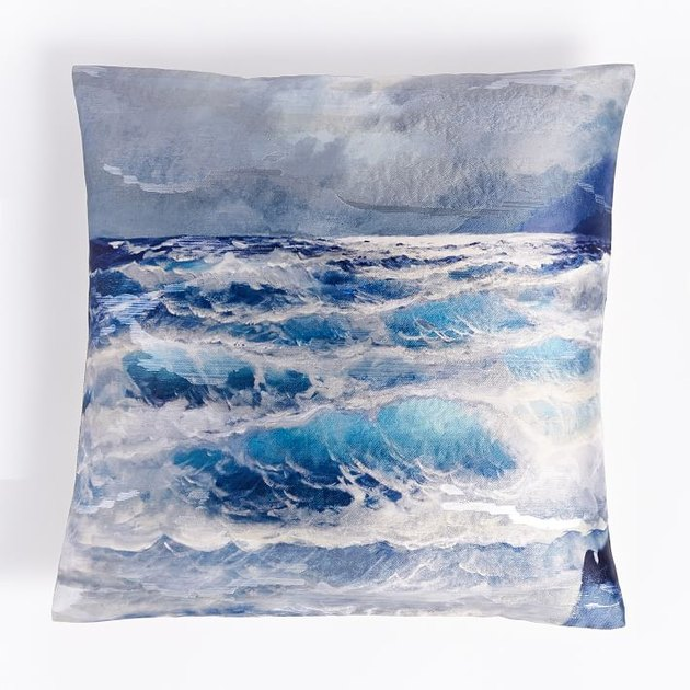 West Elm Brocade Wave Pillow Cover