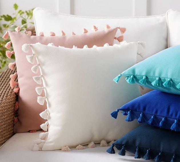 Pottery Barn - Tassel Trim Indoor/Outdoor Pillow