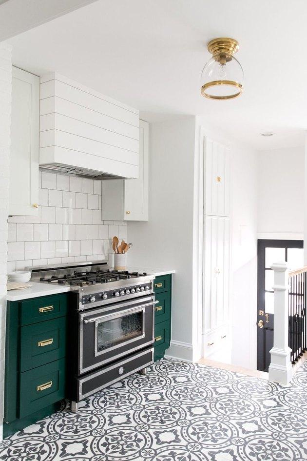 Semi-flush mount kitchen ceiling light