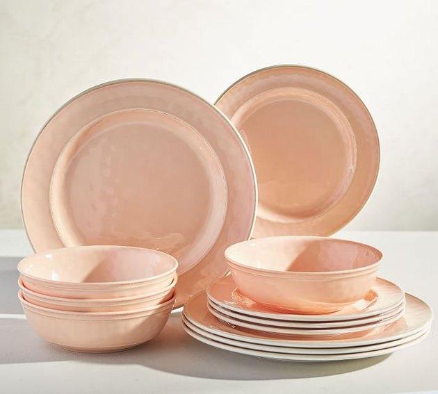 Pottery Barn - Cabana Melamine 12-Piece Dinnerware Set