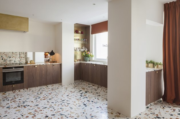 terrazzo flooring in kitchen