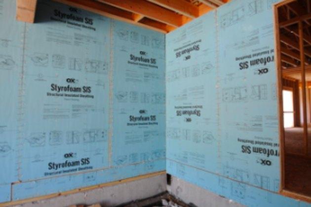 Rigid foam insulation panels.